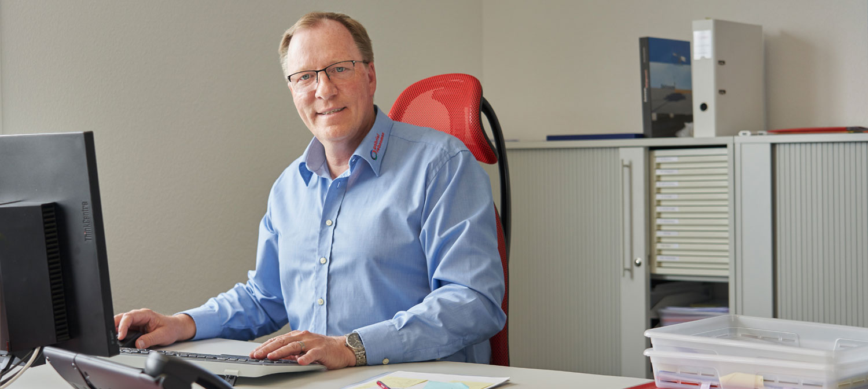 Markus Gabriel im Büro